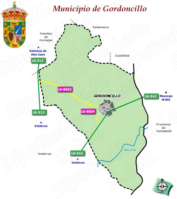 plano del municipio de gordoncillo