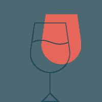 Icono copa de vino